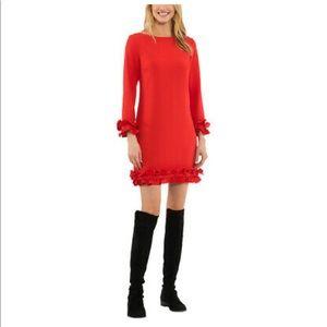 (NWT) SAIL to SABLE ruffle hem & sleeve dress.